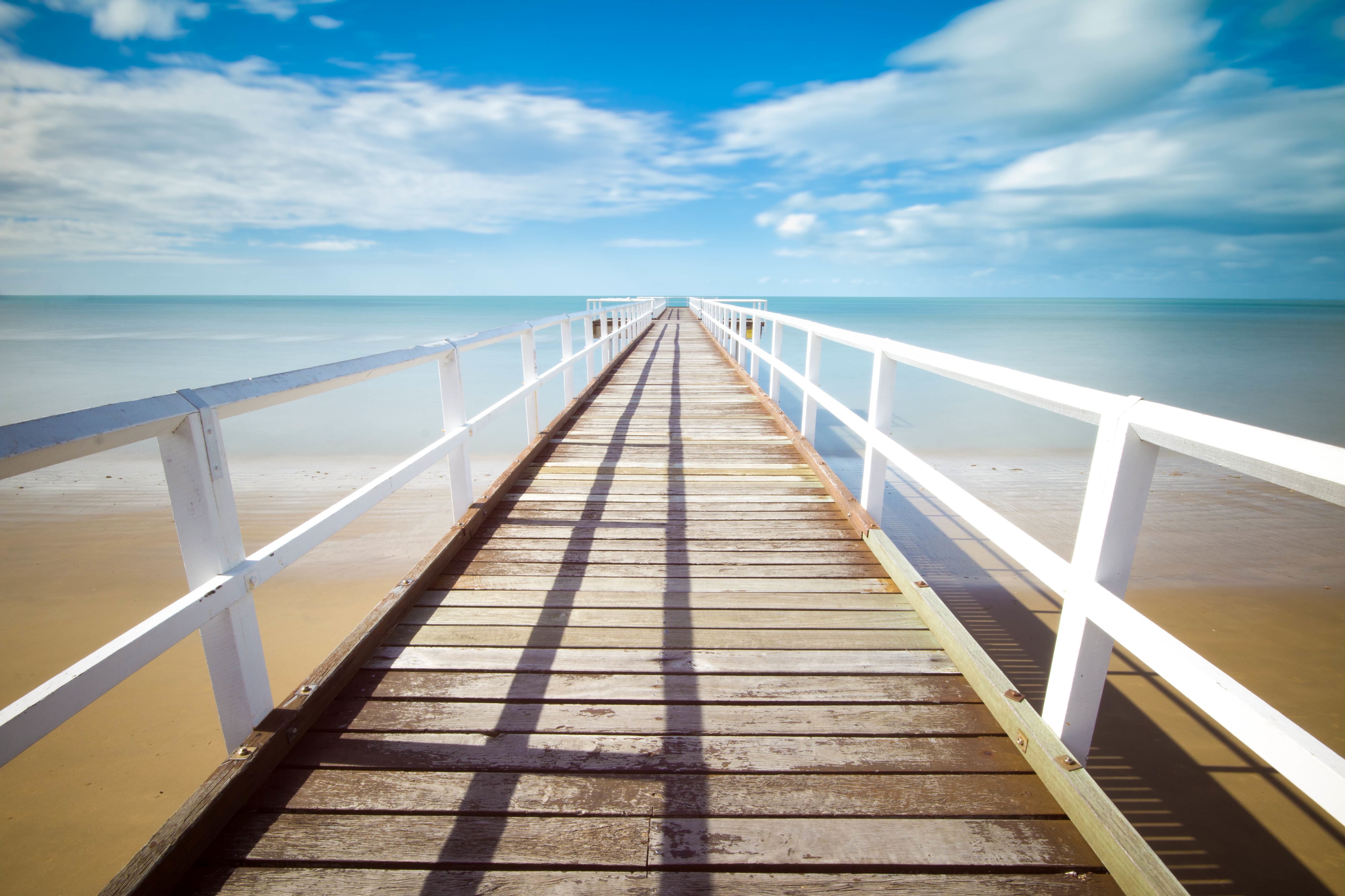 long white pier